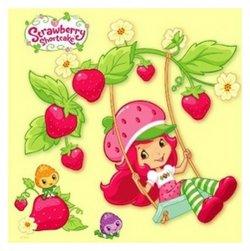 Strawberry Shortcake - omalovánky čtverec s háčkem na zavěšení