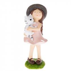 Postavička Holčička s držící kočku 14 cm