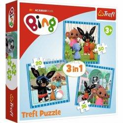 Puzzle Bing / Zábava s přáteli 3v1 (20,36,50 dílků)