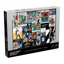 Puzzle James Bond 007 Filmové plakáty - 1000 dílků