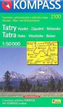 Tatry Vysoké,  Západné,  Belianské 1:50 000