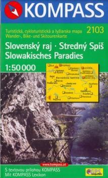 Slovenský raj Stredný Spiš 1:50 000