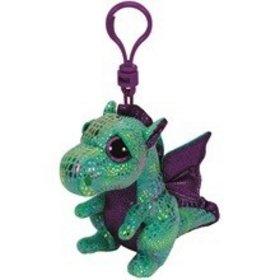 Plyš očka přívěšek zelený drak