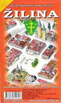Žilina Ručne maľovaná mapa mesta