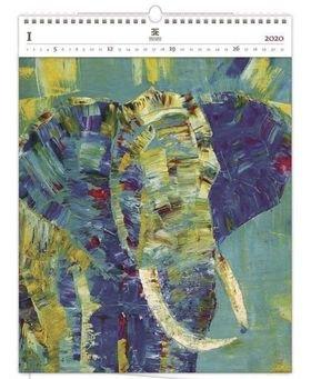 Luxusní dřevěný obrazový kalendář Elepha