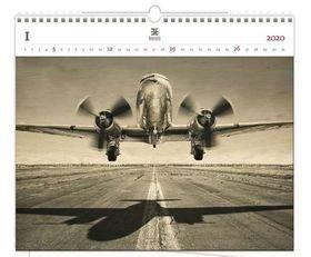 Luxusní dřevěný obrazový kalendář Airpla
