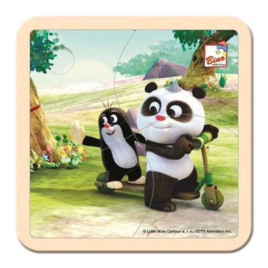 Krtek a Panda: Koloběžka/puzzle, 4 dílky