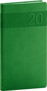 Kapesní diář Aprint 2020, zelený, 9 × 15