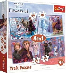 Puzzle Ledové království 2 Cesta do neznáma 4v1