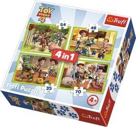 Puzzle Toy Story 4 Příběh hraček 4v1