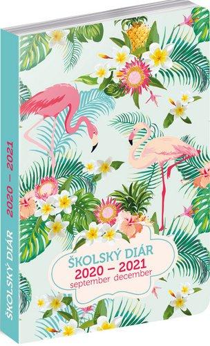 Školní diář Plameniaky slovenská verze (september 2020 – december 2021), 9,8 × 14,5 cm